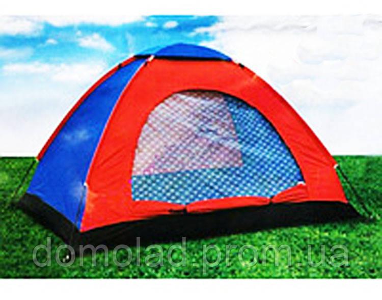 Всесезонная Туристическая Палатка HYZP-03 Однослойная на 4 Человека для Рыбалки и Кемпинга