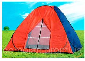 Всесезонная Туристическая Палатка-Автомат NY-TG-018 с Автоматическим Каркасом Двухслойная на 4 Человека