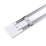 Світлодіодний світильник лінійний GLOBAL Batten Light 1-GBT-1850-AL 18W 5000K IP20 600 мм, фото 3