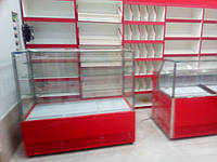 Витрины Пальмира Куб Модерн, кондитерская витрина куб Айстермо, магазин в г.Киев.