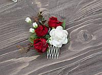 Гребень с красными бутонами роз, фото 1