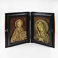 """Икона книжка """"Богородицы"""" и """"Святой Николай Чудотворец"""", ручной работы, фото 1"""