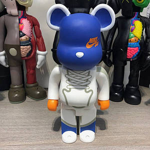 Bearbrick Nike Building Block Bear 400% Blue/White