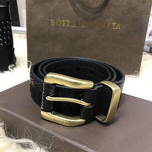 ✅ Bottega Veneta Nero Intrecciato Belt