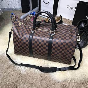 Softsided Luggage Louis Vuitton Keepall 55 Damier Ebene