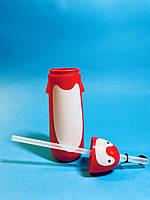Детская Бутылочка Для Воды с Трубочкой в Форме Пингвина