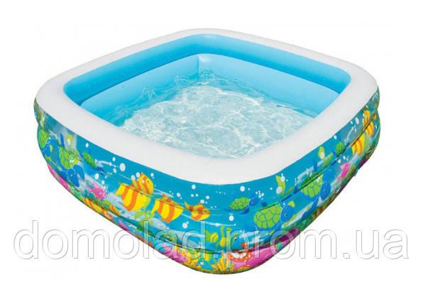 Детский Бассейн Надувной Голубая Лагуна Intex 57471 159x159x50 см