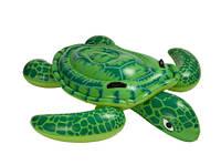 Детский Надувной Плотик Для Катания Intex 57524 Черепаха Размер 150 х 127 см, фото 1