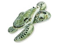 Детский Надувной Плотик Для Катания Intex 57555 Черепаха Размер 191 х 170 см, фото 1