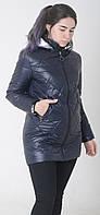 Куртка женская весенняя м-158 темно-синий