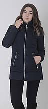 Куртка женская весенняя Aziks м-157 темно-синий 48
