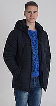 Парка мужская зимняя Aziks м-064 темно-синяя 48