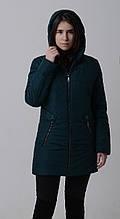Куртка женская весенняя Aziks м-157 бутылочный 48