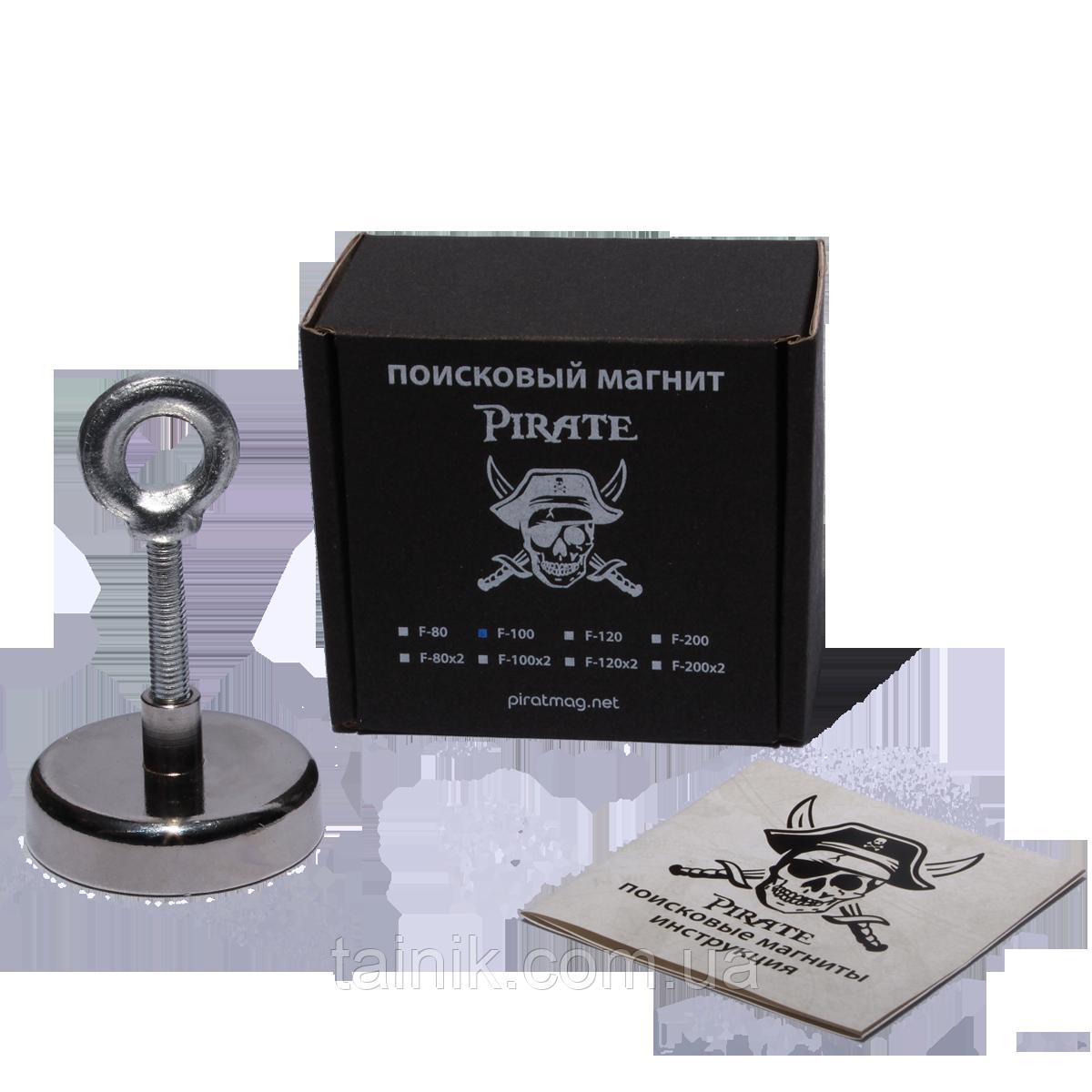 Поисковый односторонний магнит Пират F-100 кг
