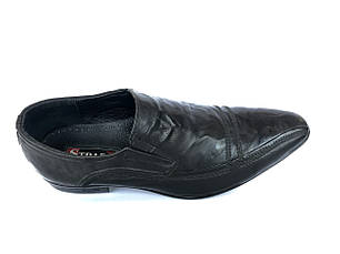 Чоловічі туфлі натуральна шкіра розміри strado, фото 2