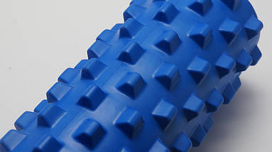 Массажный валик (MS 1843-1BL) / Синий / 45х14 см. (шипы)., фото 3