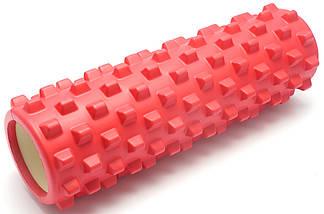 Массажный валик (MS 1843-1R) / Красный / 45х14 см. (шипы)., фото 2
