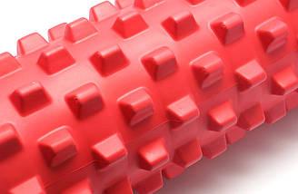 Массажный валик (MS 1843-1R) / Красный / 45х14 см. (шипы)., фото 3