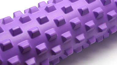 Массажный валик (MS 1843-1F) / Фиолетовый / 45х14 см. (шипы)., фото 2