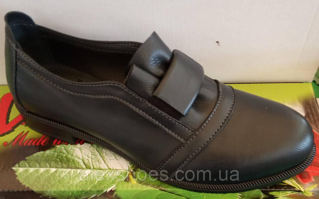 Туфли женские на низком ходу из натуральной кожи от производителя модель ВЛ1291