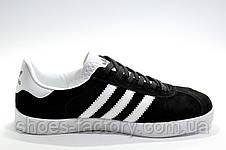 Кроссовки унисекс в стиле Adidas Gazelle, Черные с белым, фото 3