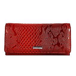 Жіночий гаманець шкіряний Karya 1064-019 червоний лаковий