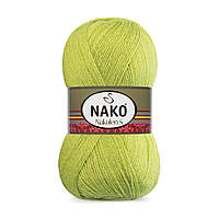 Пряжа Nako Nakolen 5 23107 фисташка (нитки для вязания Нако Наколен 5) 49% шерсть - 51% премиум акрил