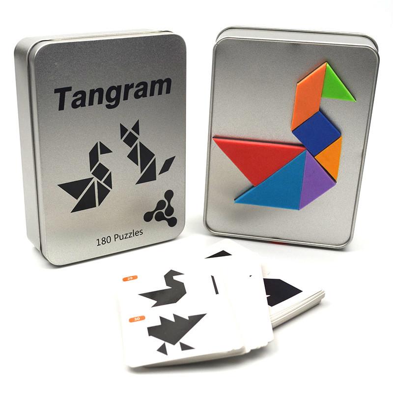 Танграм Магнітна гра головоломка 180 завдання