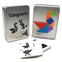Танграм (Tangram) Магнітна гра головоломка 180 завдання