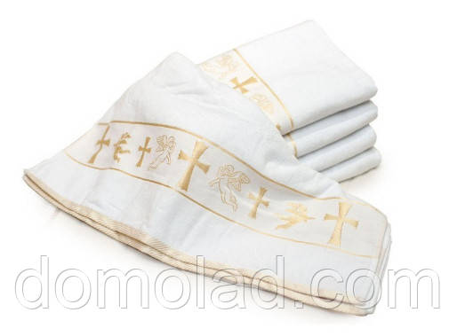 Крестильное Велюровое Полотенце Размер 70 х 140 см В Упаковке 6 шт