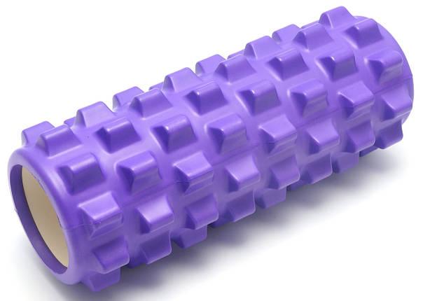 Массажный валик (MS 0857-2F)  Фиолетовый 33х12 см., фото 2