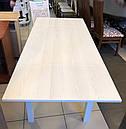 Стол обеденный Марсель 110(+35+35)х75 белый - Ясень Снежный, фото 2