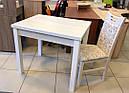 Стол обеденный Марсель 110(+35+35)х75 белый - Ясень Снежный, фото 3