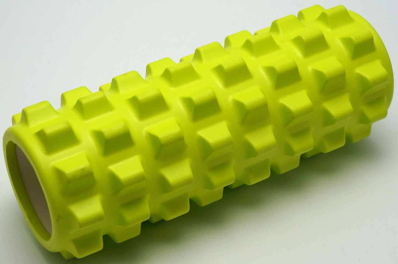 Массажный валик (MS 0857-2L)  Лимонный 33х12 см.