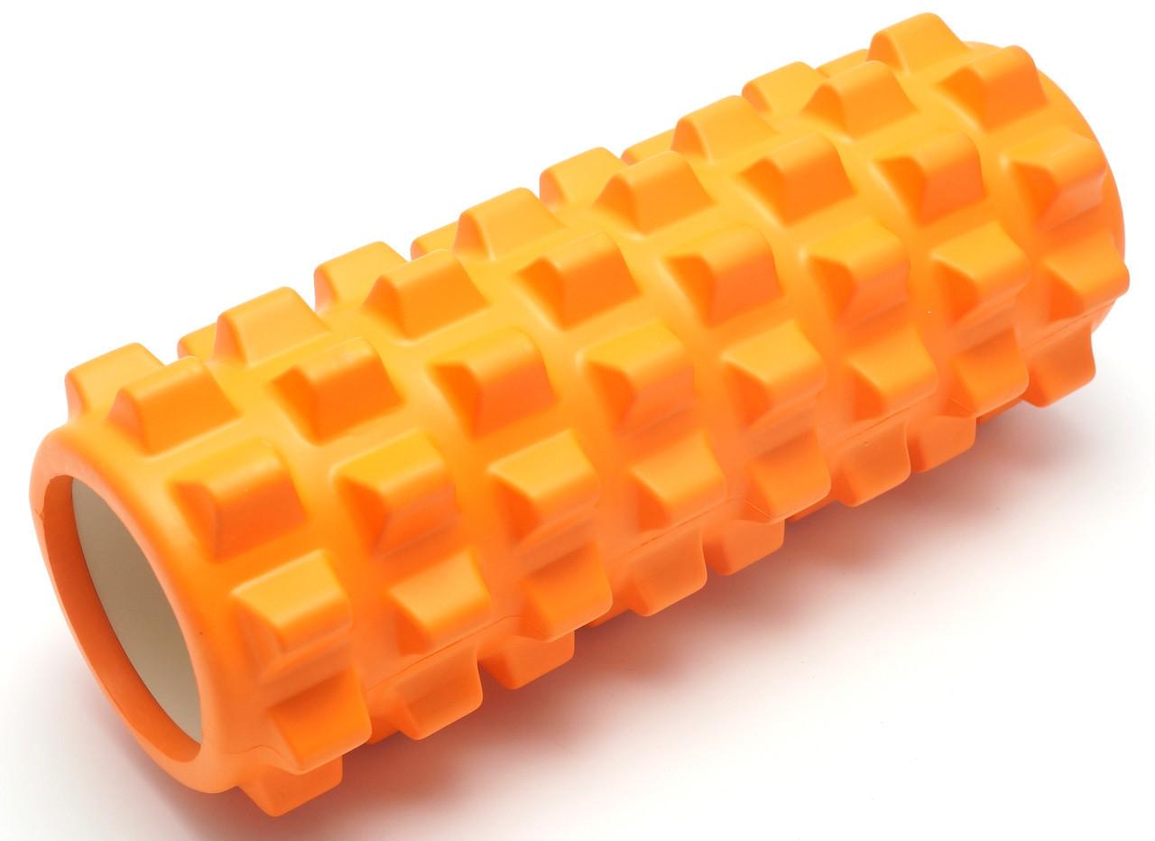 Массажный валик (MS 0857-2O)  Оранжевый 33х12 см.