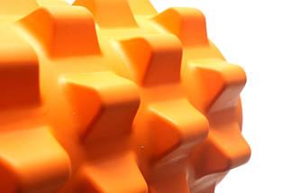 Массажный валик (MS 0857-2O)  Оранжевый 33х12 см., фото 2