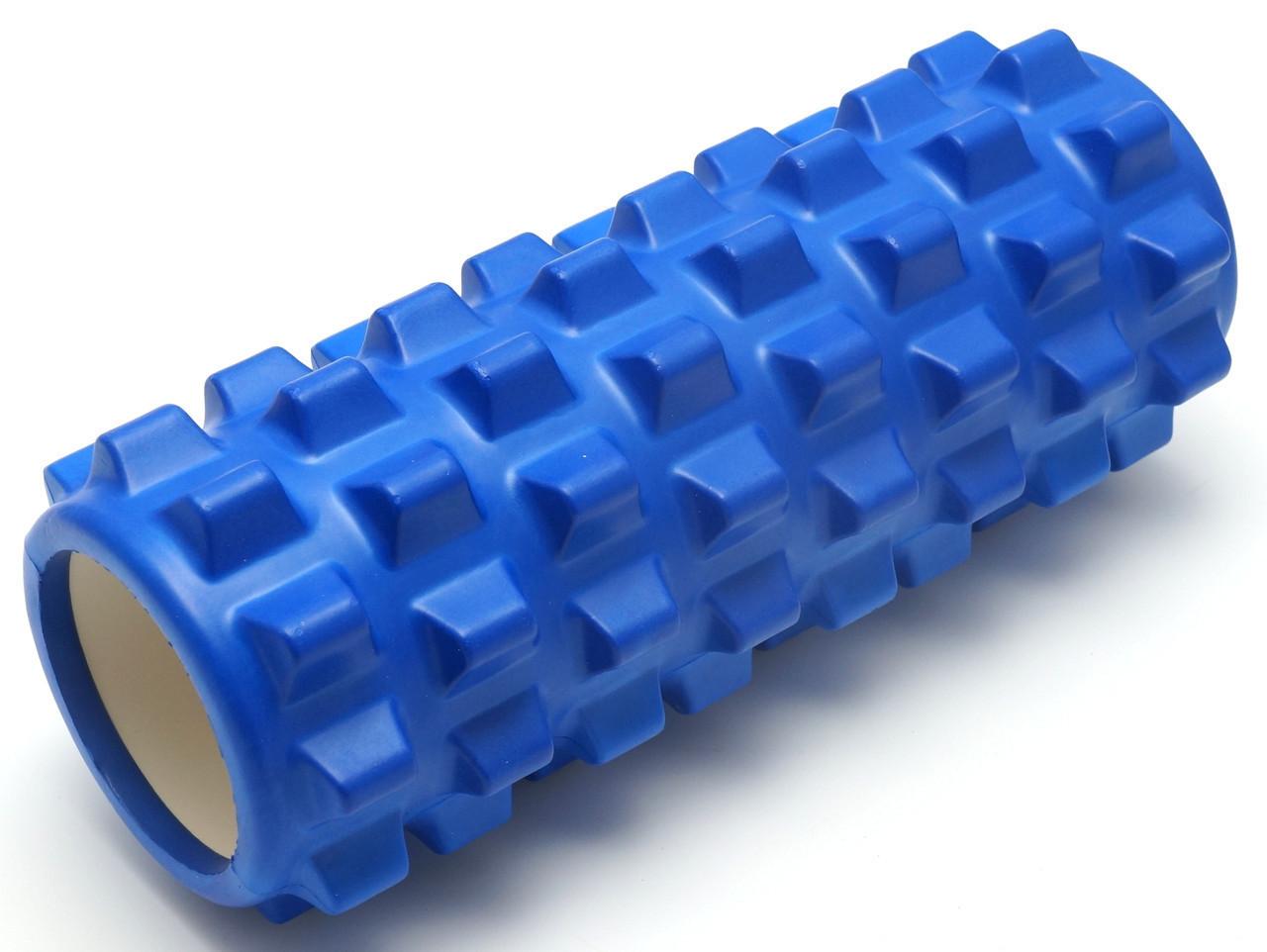Массажный валик (MS 0857-2BL)  Синий 33х12 см.