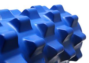 Массажный валик (MS 0857-2BL)  Синий 33х12 см., фото 2
