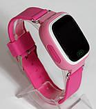 Детские умные смарт часы с GPS Smart Baby Watch Q90-PLUS. Розовые, фото 4