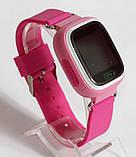 Детские умные смарт часы с GPS Smart Baby Watch Q90-PLUS. Розовые, фото 7