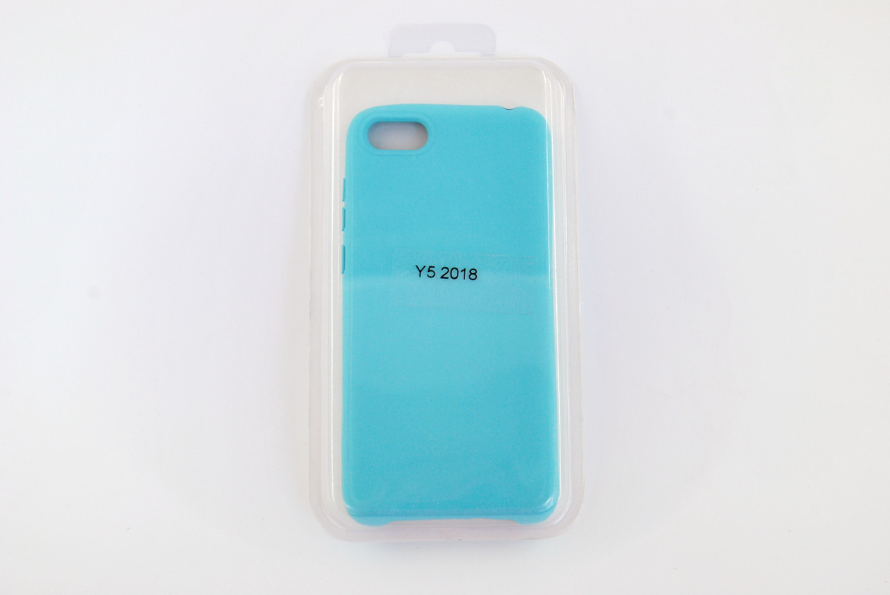 Чехол Xiaomi Redmi 6 Silicone Full Cover Soft touch light blue