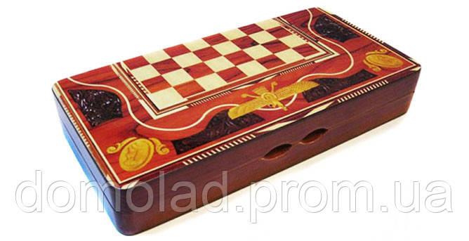 Набор 3 в 1 Шахматы Шашки Нарды W 5001 E