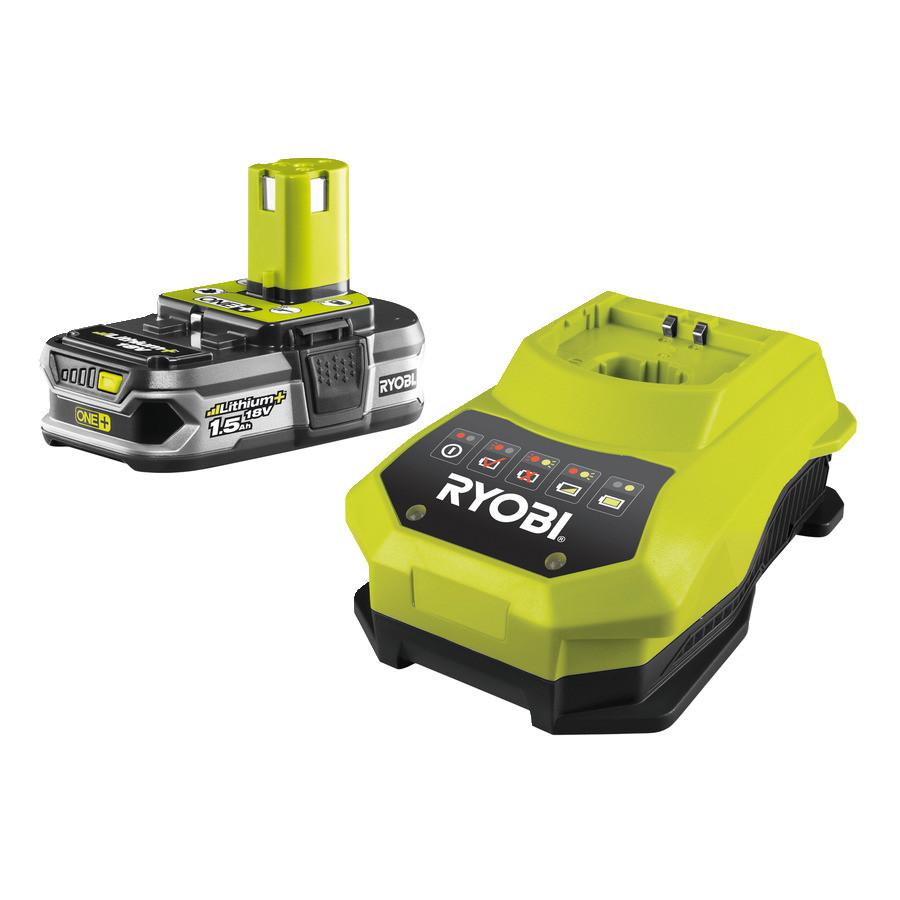 Зарядний пристрій і акумулятор 1.5 Ач Ryobi RBC18L15