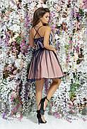 Платье из габардина с открытой спиной, 00096 (Синий), Размер 42 (S), фото 4