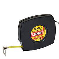 Рулетка стальная лента 20м*10мм (черная) Sigma (3816201)