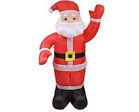 Новогодняя Надувная Фигура Дед Мороз Надувной Санта Клаус 240 см для Атмосферы Нового Года Рождества