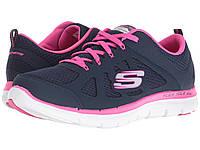 Кроссовки Skechers Flex Appeal 2.0 - Simplistic Navy/Hot Pink - Оригинал