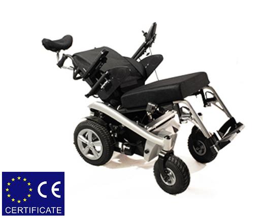 Многофункциональная электроколяска для инвалидов W1036. Регулируемый наклон. Инвалидная коляска., фото 2