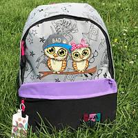 Рюкзак шкільний Jiaze з совами, фото 1