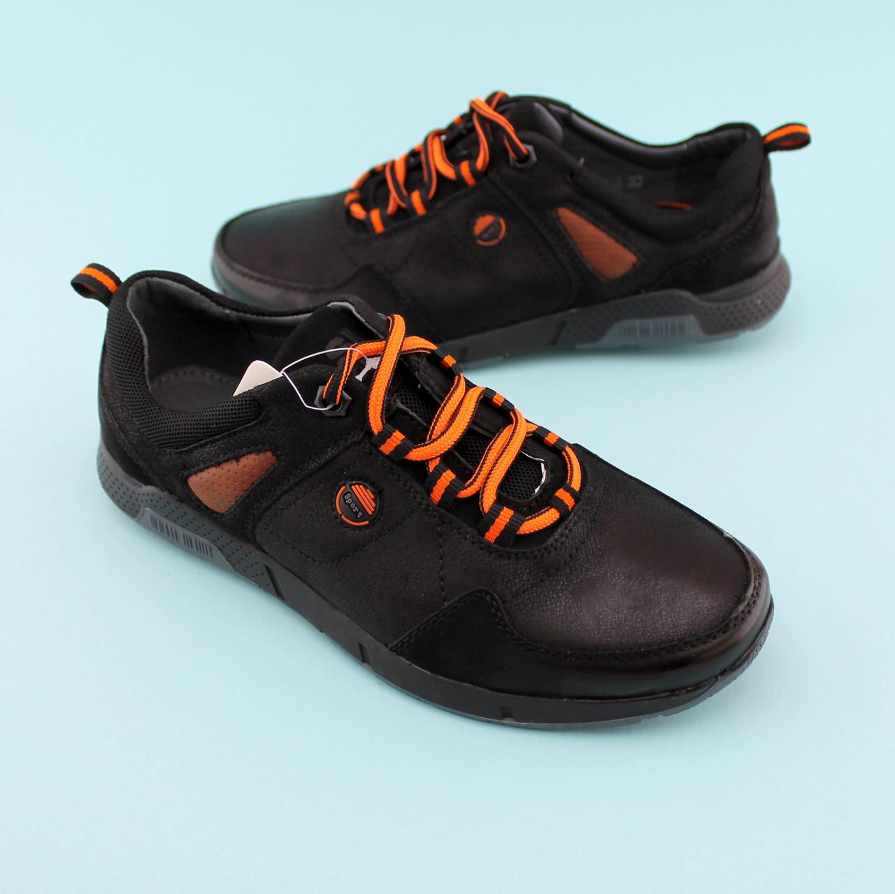 Туфлі на хлопчика з шнурками Чорні тм Тому.М розмір 35,36